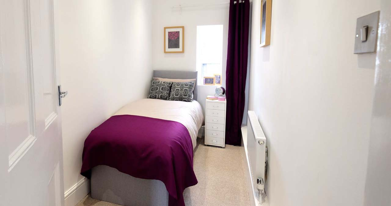 After home staging bury bedroom