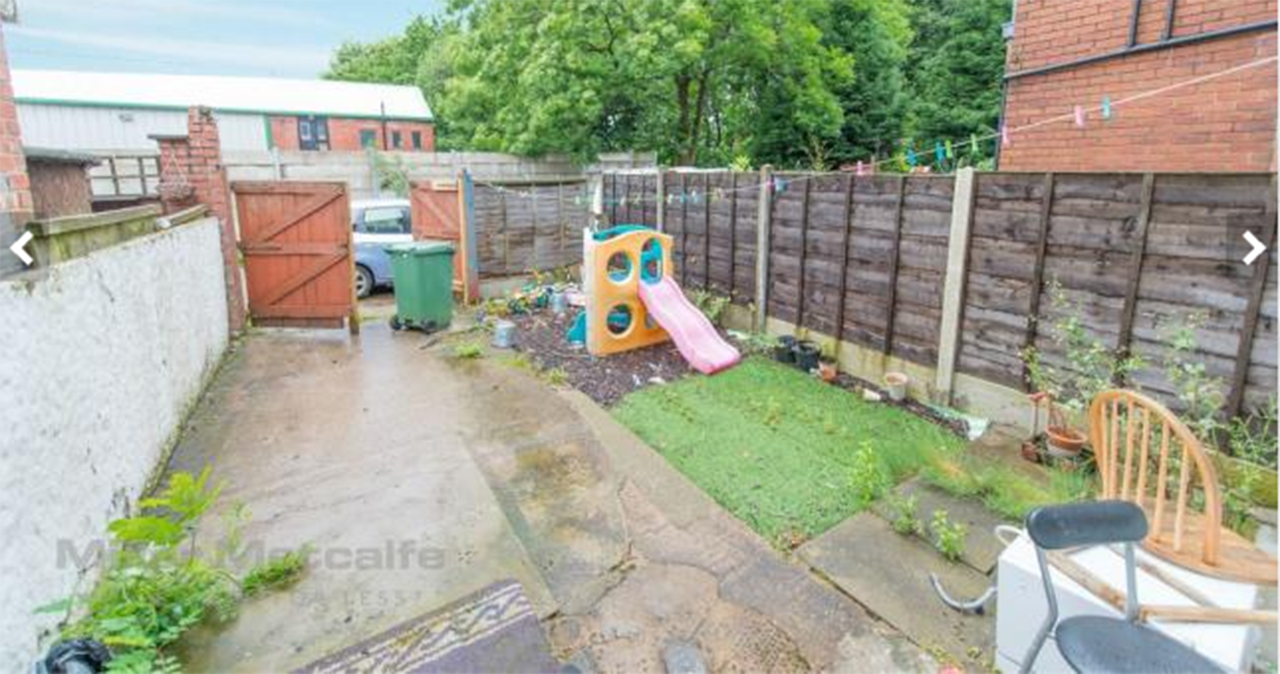 Before Home staging Bury back garden