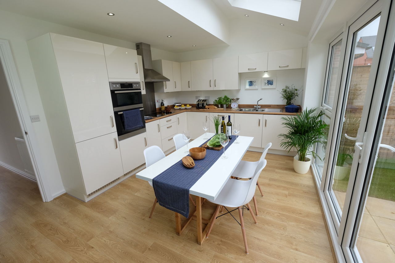 Show house kitchen dining Manchester