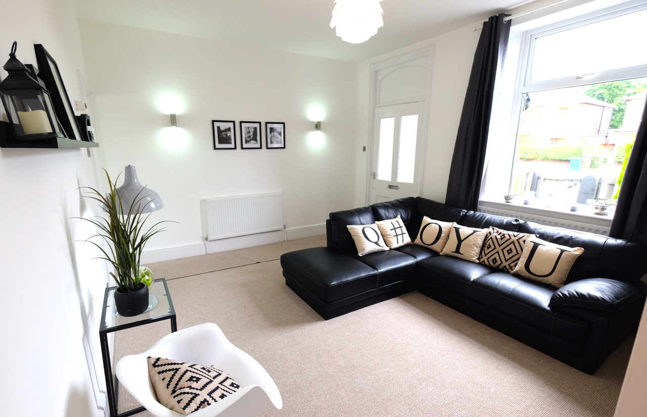 Home staging reception room manchester