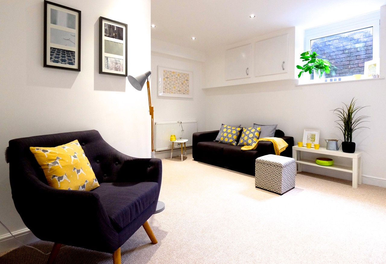 home staging basement conversion